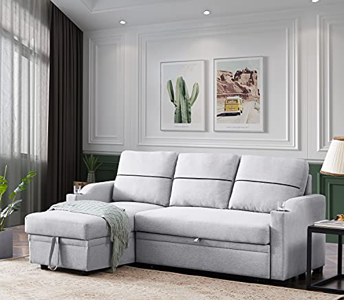 Olodumare Couches for Living Room,Pull Out Sofa Bed Sectional Sleeper with Storage