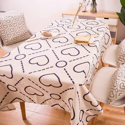 XXDD Mantel geométrico de Plantas Tropicales, Mantel de Lino de algodón, Mantel Rectangular para el hogar, Mantel A7 135x200cm