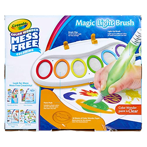 Crayola Color Wonder Magic Light Brush, Mess Free Painting, Gift for Kids, 3, 4, 5, 6