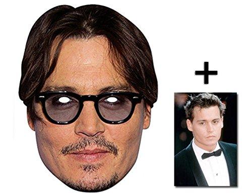 BundleZ-4-FanZ Fan Packs Johnny Depp berühmtheit Single Karte / Pappe Partei Maske Enthält 6X4 (15X10Cm) starfoto