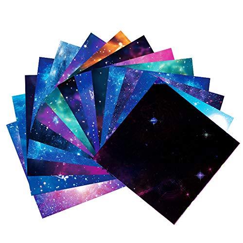 CHSG 50 Hojas Manualidades De Origami Con Papel Para NiñOs, Papiroflexia, Para Crear Figuras Hermosas - Origami Paper - Estampados Con 12 Constelaciones Motivos, Ideal Para Grandes Y Chicos
