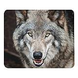 野生狼の顔のマウスパッド:フォトパッド(世界の野生動物シリーズ)