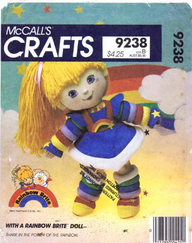 McCall 's 9238Crafts patrón de costura para Rainbow Brite muñeca