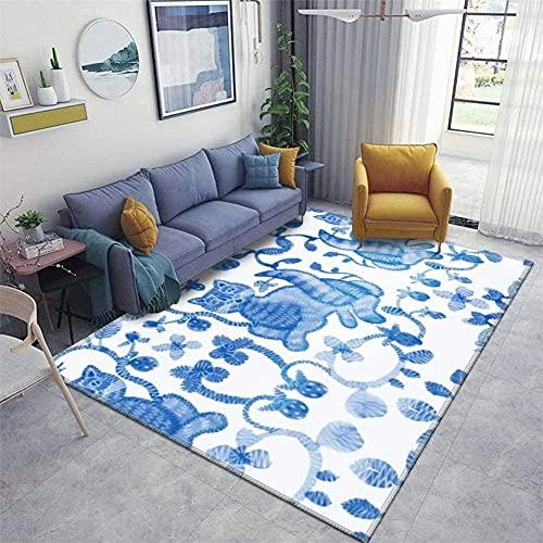 Entrada, área de la casa Runner almohadilla de alfombra Patrón sin fisuras en estilo folk Ilustración Espesado Mats antideslizantes espesados Portafombra alfombra de alfombra para sala de estar Alfo