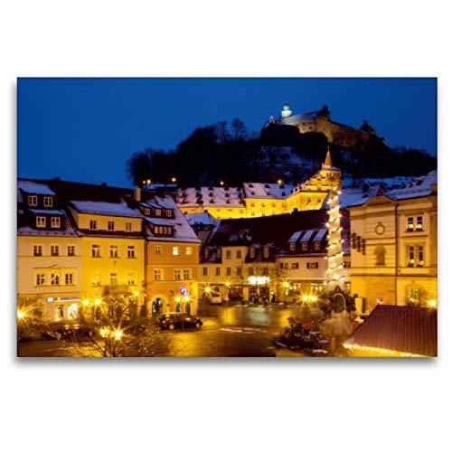 Premium Textil-Leinwand 120 x 80 cm Quer-Format Kulmbach im Advent | Wandbild, HD-Bild auf Keilrahmen, Fertigbild auf hochwertigem Vlies, Leinwanddruck von Karin Dietzel