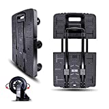 Folding Hand Truck Portable Trolley Dolly Compact Utility Luggage Cart with 245Kg/540Lbs H...