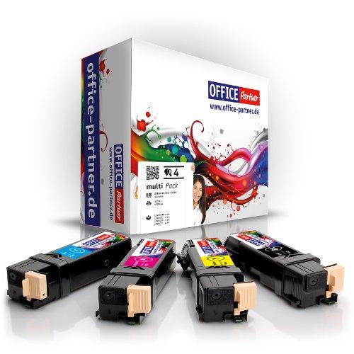 OFFICE-Partner Premium 4er Multipack Toner kompatibel zu Dell 1320C schwarz Cyan Magenta gelb für Dell 1320 1320C 1320CN 2130 2130CN 2135 2135CN