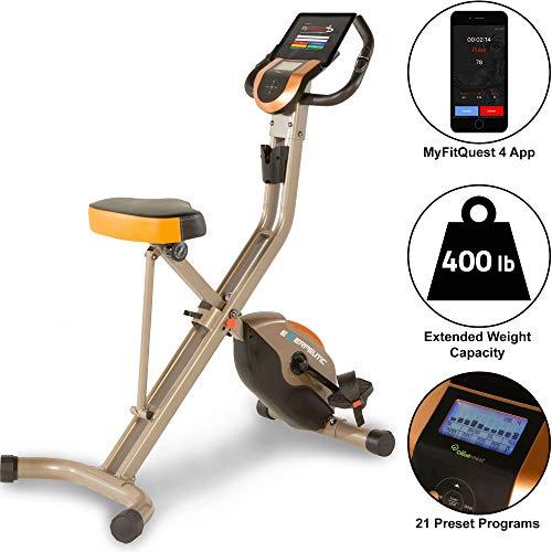 Exerpeutic Gold 575 XLS klappbarer Heimtrainer mit Magnetbremssystem, 181 kg max. Benutzergewicht, Bluetooth und kostenloser App