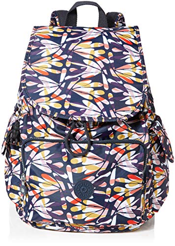Kipling Damen City Pack Rucksack, Mehrfarbig (Retro Floral), 32x37x18.5 cm