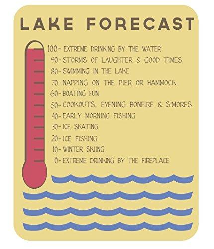 Lake House Lake Forecast Sign, 11 x 14 -Inch