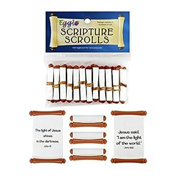 [Light of Jesus] Scripture Scrolls - Faith Filled Toys for Halloween | Fall Festivals  12 Pack