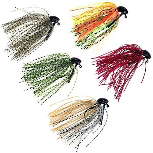 thkfish Fishing Lures Fishing Jigs Swim Jigs Fishing Jigs Bass Mix Color Metal Lead Fishing Jigs Kit 3/8oz 5pcs