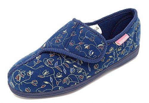 Dunlop - Zapatillas de estar por casa para mujer, color azul, talla 38 EU