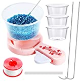 10 Pieces DIY Making Bead Spinner Set Including Spin Bead Loader Jewelry Making Bead Holder Hot Glue Stick Beaded Line Plastic Cups Long Beading Needles Curved Needles for DIY Crafts Jewelry Making