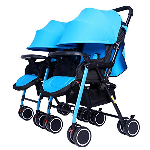 Learn More About ABM Double Stroller Children City Street Mini Side Stroller Detachable Twin Baby Ca...