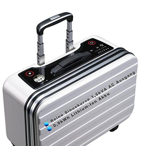 FSP EMERGY 1000 energieopslagsysteem, lithium-ionbatterijpak, online UPS, schijnbaar vermogen 1,5 kVA; Actief vermogen 0,9kWh met AC 230V en DC 5V output, AC 230V en Solar PV 65-110V input, wit