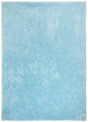 TOM TAILOR Teppich Soft, Uni, 712 Atlantis 160 x 230 cm blau