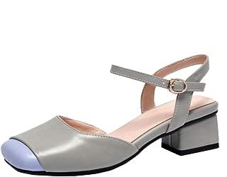 RAZAMAZA Women Elegant Block Heels Sandals Square Toe