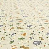 ANRO Tischdecke Wachstuch abwaschbar Wachstuchtischdecke Wachstischdecke Kinder Geburtstag Tiere Hellgrün 100x140cm - 9