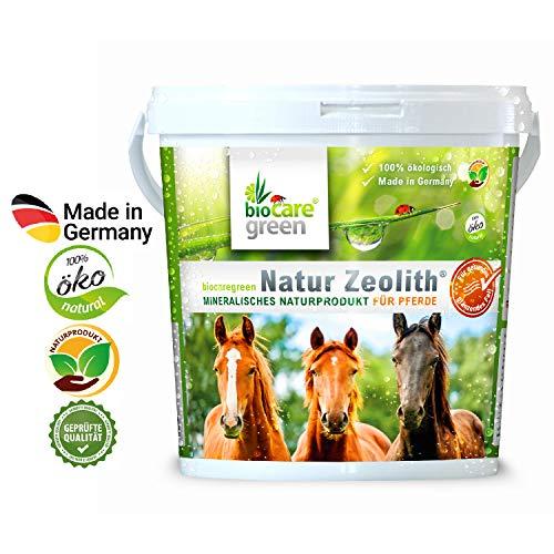 biocaregreen Natur Zeolith Pferd   1kg, Garantierte Vermahlung auf 50 μm   Nahrungsergänzung für Pferde
