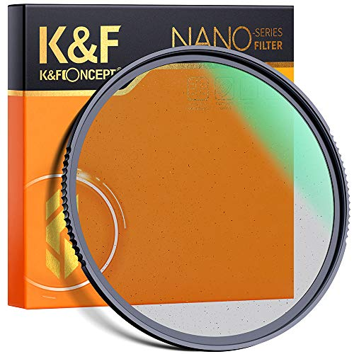 K&F Concept 77mm Black Soft Filter 1/4 Special Effects Filter Cinebloom Diffusion Effect Filter with Double Side Multi-Layer Coated, Waterproof/Scratch Resistant Dream Effect Filter for Camera Lens