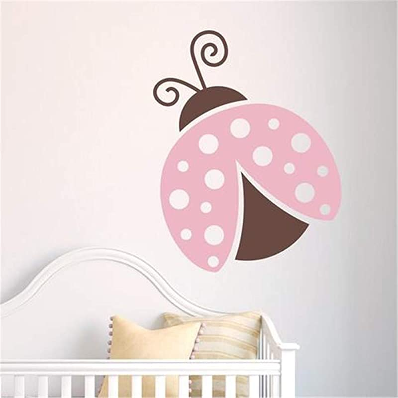 Liutaz Quotes Art Decals Vinyl Removable Wall Stickers Ladybug For Kids Room Playroom