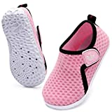 JOINFREE Boys Girls Water Shoes Quick Dry Slip On Aquatic Sports Sandals Sneakers for Kids Pink 12-18 Months Infant
