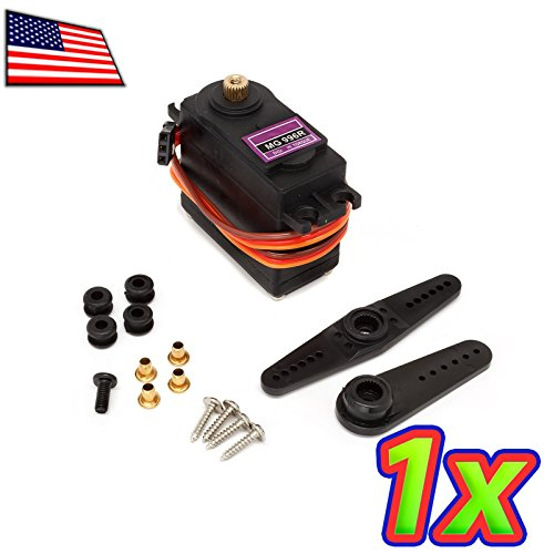 UPGRADE INDUSTRIES [1x] Metal Geared Digital Servo for RC Car, Quad, Drone - MG996R compatible by UPGRADE INDUSTRIES