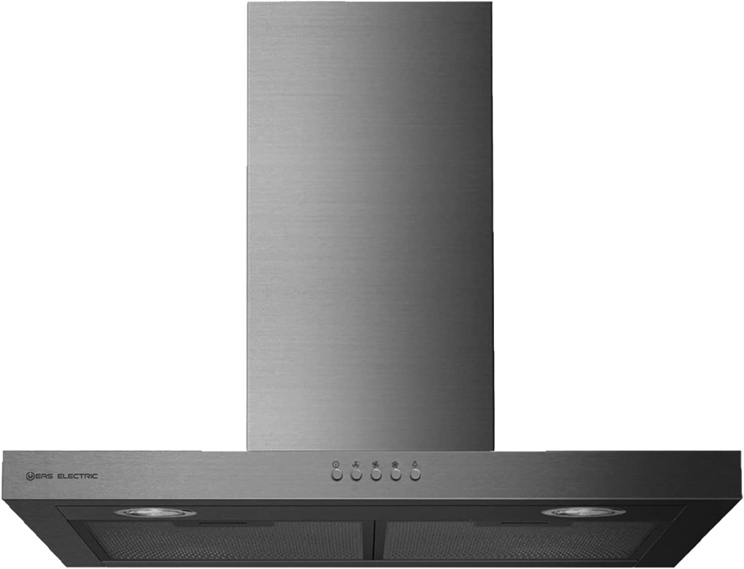 EAS ELECTRIC SMART TECHNOLOGY | EMRH906X | Campana extractora | Campana de pared | Anchura de 90 cm | Color Inox | Control Mecánico | 3 niveles | LED | 3 filtros lavables | capacidad de 600 m3/h