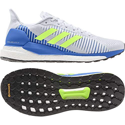 adidas Solar Glide ST 19 M, Zapatillas de Running para Hombre, Crystal White/Signal Green/Glory Blue
