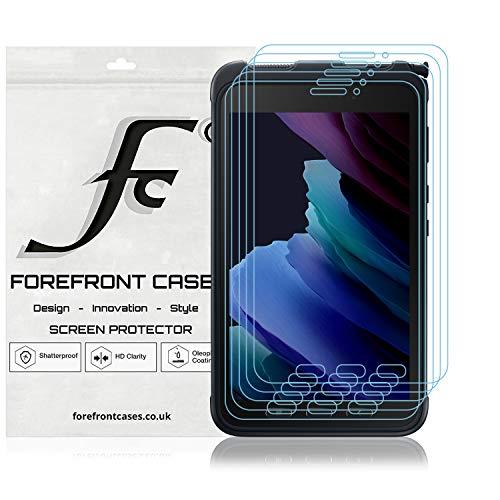 Forefront Cases Schutzfolie für Samsung Galaxy Tab Active 3 8.0' SM-T575-10 Stück - Samsung Galaxy Tab Active3 8.0 Schutzfolie PET Ultra Dünn 0,1 mm, HD-Klar Vollflächiger Displayschutz, Bruchsicher