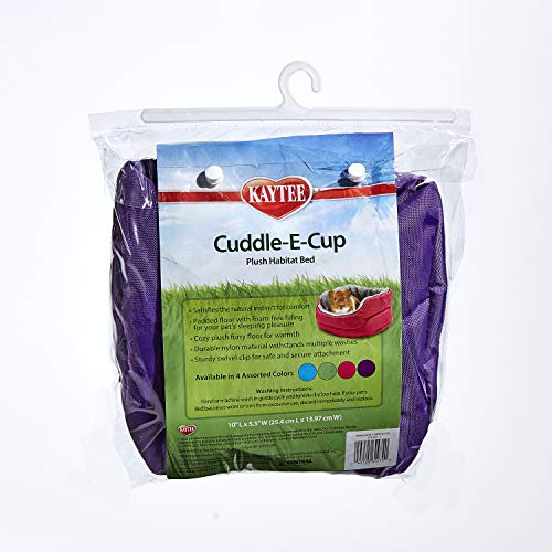 Kaytee Super Sleeper Cuddle-E-Cup With Bag, Color May Vary, 10'l x 12'w x 5.5'h