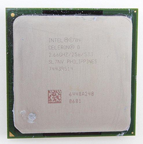 Intel Celeron   D Processor 331 (256K Cache, 2.66 GHz, 533 MHz FSB) 2.667GHz 0.256MB L2 - Procesador (2.66 GHz, 533 MHz FSB), Intel Celeron D, 2,667 GHz, LGA 775 (Socket T), 90 nm, 533 MHz, Intel Celeron D 300 series)