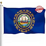 DFLIVE Double Sided New Hampshire State Flag 3x5ft Heavy Duty 3 Ply Polyester NH State Flags Indoor and Outdoor Use