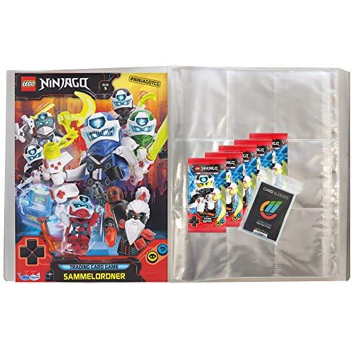 Lego Ninjago - Serie 5 Trading Cards - 1 Leere Sammelmappe + 5 Booster - Deutsch + Collect-it Hüllen Sleeves