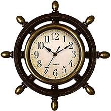 Leme Relógio de Parede Timão Painel Rústico + Pilha - 33cm