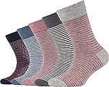 Camano Kinder-Socken 5er-Pack grau meliert Größe 31-34