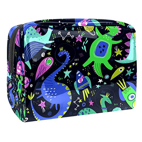 Maquillage Cosmetic Case Multifunction Travel Toiletry Storage Bag Organizer for Women - Cute Dinosaur Astronaut
