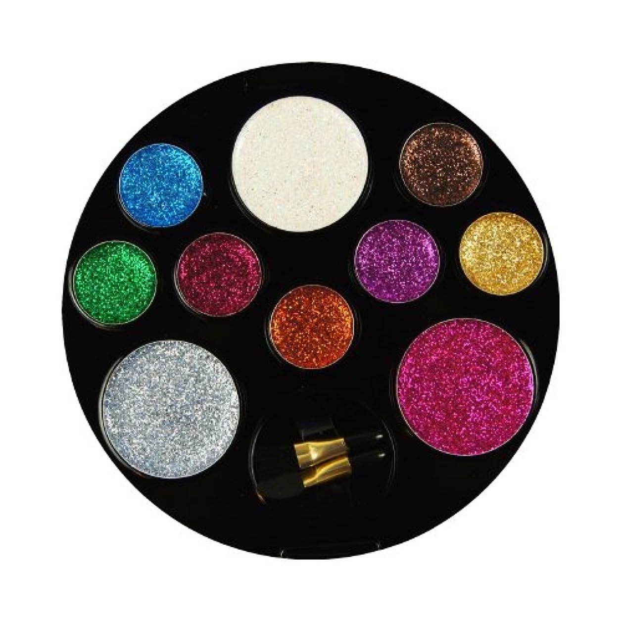 おなじみの民兵違反(3 Pack) BEAUTY TREATS 10 Color Perfect Glitter Palette - Enchanting (並行輸入品)