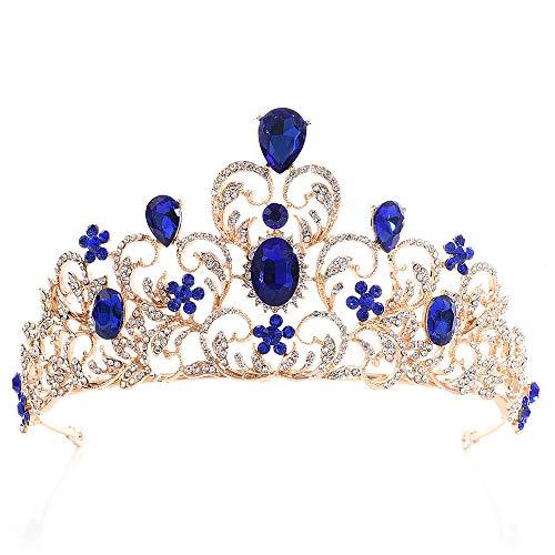 Corona de Cristal de Tiara para Novia, Diadema de Princesa, Corona de...