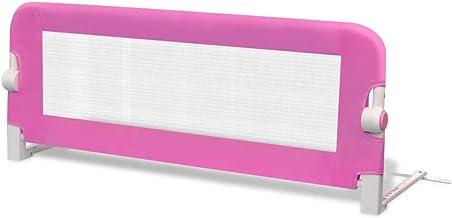 vidaXL Barandilla Seguridad Infantil de Cama Rosa Barra Protectora Dormir Niño