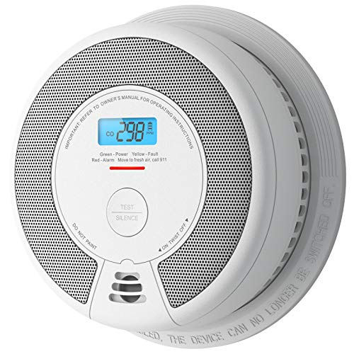 X-Sense CD07 Carbon Monoxide Detector Alarm, 10-Year Battery (Not Hardwired) CO Alarm Detector with LCD Display, Compliant with UL 2034 Standard, Auto-Check & Silence Button