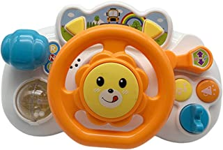 yotijay Baby Driving Pretend Play Toys with Light and Music, Pretend Driving Learning Educational Toys for Kids Toddlers -...