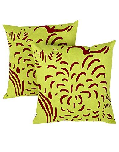 RAJRANG Cubierta del Vintage Cojín Almohada Verde Abstracta del Loro para la decoración