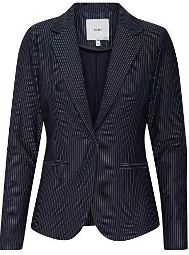 ICHI Damen Ihruti Bl Anzugjacke, Blau (Total Eclipse 14044), 38 (Herstellergröße:M)