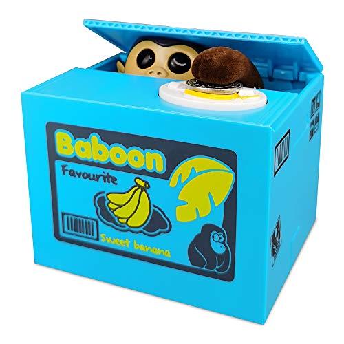 TUSEASY Stealing Coin Piggy Bank Automatic Money Saving Box Great for Kids Children Monkey (Banana)