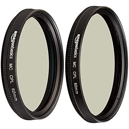 Amazon Basics Filtro polarizador Circular 52mm+ Filtro polarizador Circular 62mm