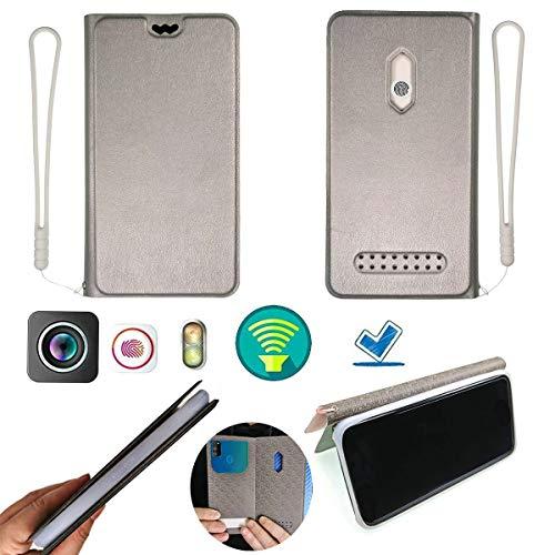 Hülle Für Blackview Bv4000 Silikon Schutzring + Flip Cover Stand Shell Silber