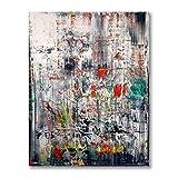 Gerhard Richter Kunstwerk Poster Rot Grün Weiß Abstrakte