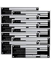 10 x blanco typeplaatje aanhangertypeplaatje neutraal hanger - vs. 8